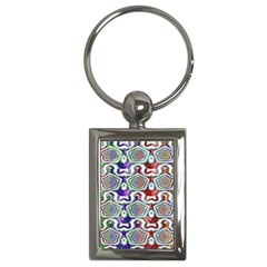 Digital Patterned Ornament Computer Graphic Key Chains (rectangle)