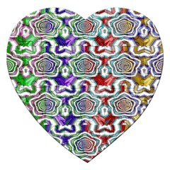 Digital Patterned Ornament Computer Graphic Jigsaw Puzzle (heart) by Simbadda
