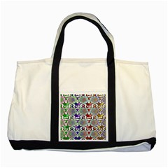 Digital Patterned Ornament Computer Graphic Two Tone Tote Bag by Simbadda