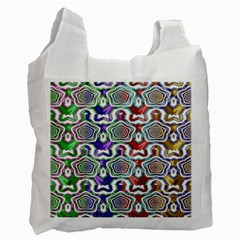Digital Patterned Ornament Computer Graphic Recycle Bag (one Side) by Simbadda