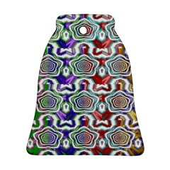 Digital Patterned Ornament Computer Graphic Bell Ornament (two Sides) by Simbadda
