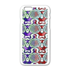 Digital Patterned Ornament Computer Graphic Apple Iphone 6/6s White Enamel Case by Simbadda