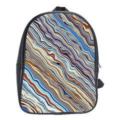 Fractal Waves Background Wallpaper Pattern School Bags(large)  by Simbadda