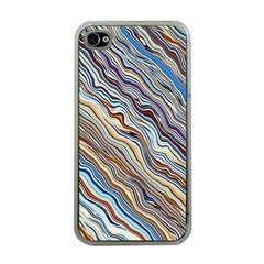 Fractal Waves Background Wallpaper Pattern Apple Iphone 4 Case (clear)