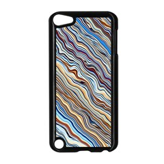 Fractal Waves Background Wallpaper Pattern Apple Ipod Touch 5 Case (black) by Simbadda