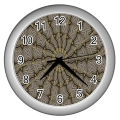 Abstract Image Showing Moiré Pattern Wall Clocks (silver)