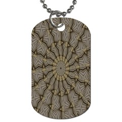 Abstract Image Showing Moiré Pattern Dog Tag (two Sides) by Simbadda