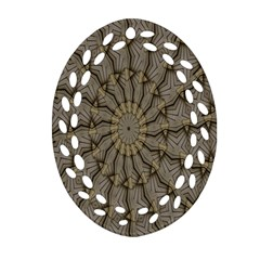 Abstract Image Showing Moiré Pattern Oval Filigree Ornament (two Sides) by Simbadda