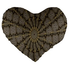 Abstract Image Showing Moiré Pattern Large 19  Premium Flano Heart Shape Cushions