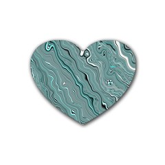Fractal Waves Background Wallpaper Rubber Coaster (heart)  by Simbadda