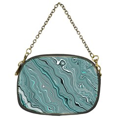 Fractal Waves Background Wallpaper Chain Purses (one Side)