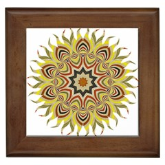 Abstract Geometric Seamless Ol Ckaleidoscope Pattern Framed Tiles by Simbadda