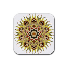 Abstract Geometric Seamless Ol Ckaleidoscope Pattern Rubber Square Coaster (4 Pack)  by Simbadda
