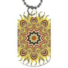 Abstract Geometric Seamless Ol Ckaleidoscope Pattern Dog Tag (one Side) by Simbadda