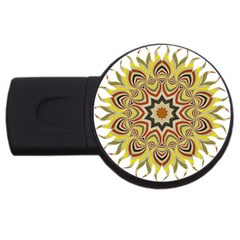 Abstract Geometric Seamless Ol Ckaleidoscope Pattern Usb Flash Drive Round (2 Gb) by Simbadda