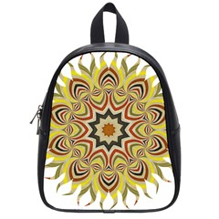 Abstract Geometric Seamless Ol Ckaleidoscope Pattern School Bags (small)  by Simbadda