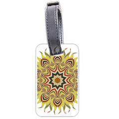Abstract Geometric Seamless Ol Ckaleidoscope Pattern Luggage Tags (one Side)  by Simbadda