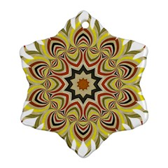Abstract Geometric Seamless Ol Ckaleidoscope Pattern Snowflake Ornament (two Sides)