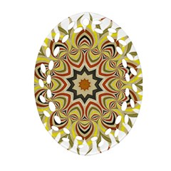 Abstract Geometric Seamless Ol Ckaleidoscope Pattern Oval Filigree Ornament (two Sides) by Simbadda