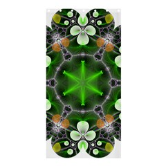 Green Flower In Kaleidoscope Shower Curtain 36  X 72  (stall)  by Simbadda