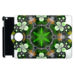 Green Flower In Kaleidoscope Apple Ipad 3/4 Flip 360 Case by Simbadda