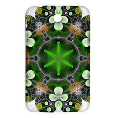 Green Flower In Kaleidoscope Samsung Galaxy Tab 3 (7 ) P3200 Hardshell Case  by Simbadda
