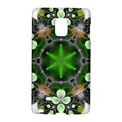 Green Flower In Kaleidoscope Galaxy Note Edge by Simbadda