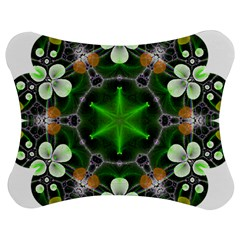 Green Flower In Kaleidoscope Jigsaw Puzzle Photo Stand (bow)