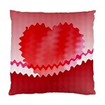 Red Fractal Wavy Heart Standard Cushion Case (Two Sides) Back