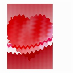Red Fractal Wavy Heart Small Garden Flag (two Sides) by Simbadda