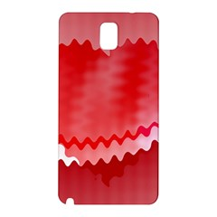 Red Fractal Wavy Heart Samsung Galaxy Note 3 N9005 Hardshell Back Case