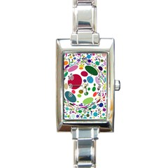 Color Ball Rectangle Italian Charm Watch