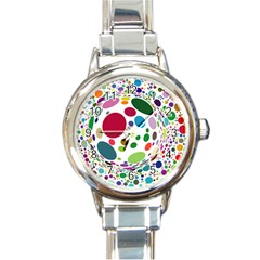 Color Ball Round Italian Charm Watch