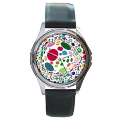 Color Ball Round Metal Watch