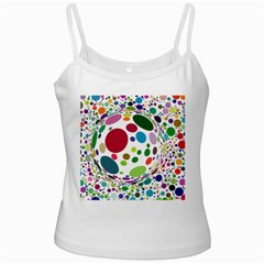 Color Ball White Spaghetti Tank by Mariart