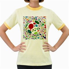 Color Ball Women s Fitted Ringer T-Shirts