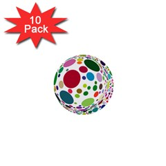 Color Ball 1  Mini Buttons (10 pack)