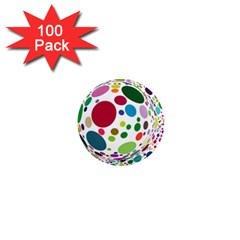 Color Ball 1  Mini Magnets (100 pack)