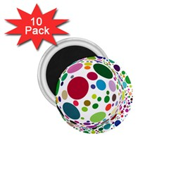Color Ball 1.75  Magnets (10 pack)
