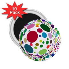 Color Ball 2.25  Magnets (10 pack)
