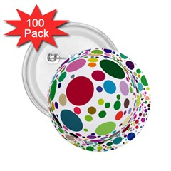 Color Ball 2.25  Buttons (100 pack)