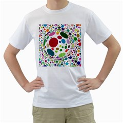 Color Ball Men s T-Shirt (White) (Two Sided)