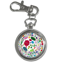 Color Ball Key Chain Watches