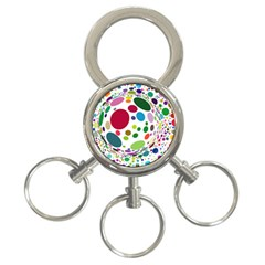 Color Ball 3-Ring Key Chains