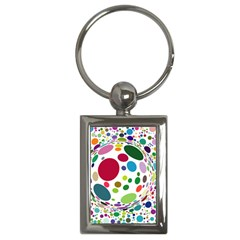 Color Ball Key Chains (Rectangle)