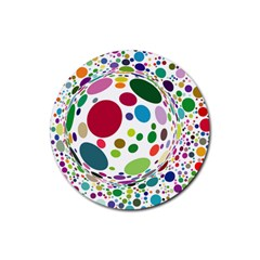 Color Ball Rubber Coaster (round)  by Mariart