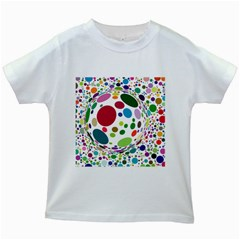 Color Ball Kids White T-Shirts