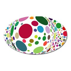 Color Ball Oval Magnet