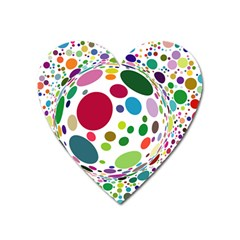 Color Ball Heart Magnet