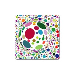Color Ball Square Magnet